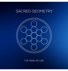 Sacred geometry Hipster symbols and elements vector image