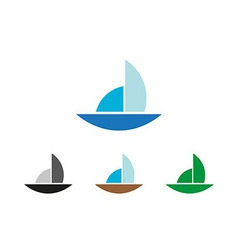 Sailing object symbol vector