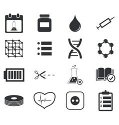 Science icon set 4 simple vector
