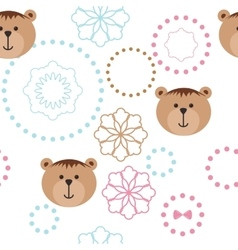Seamless isolated pattern with bears vector image