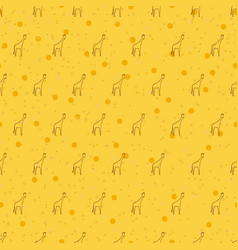 seamless pattern background giraffe vector image