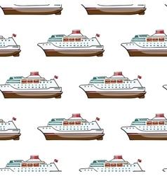 Seamless pattern Hand drawn water transpor kids vector