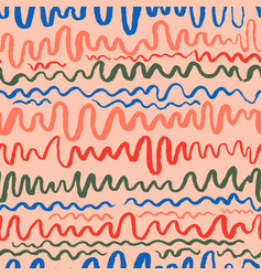 seamless pattern with waves stripped artistic vector image