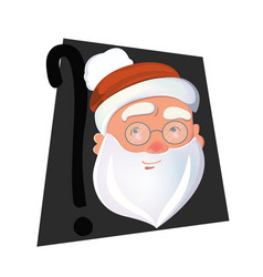 secret santa claus face isolated vector image