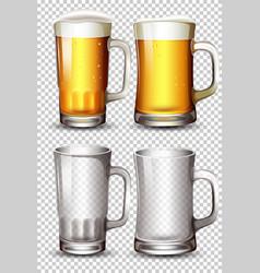 set of beer glass vector image