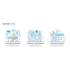 set of concept with business concept vector image