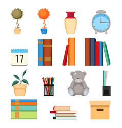 Set of office accessories vector