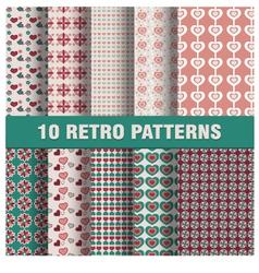 Set of retro patterns vector