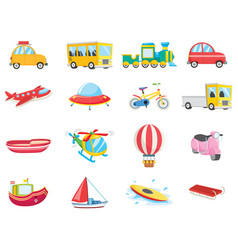 set of transportation vehicles vector image
