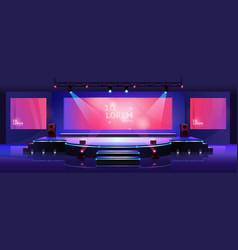 stage conference hall presentation concert scene vector image