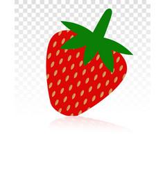 Strawberry fruit strawberries flat icon vector