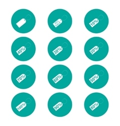 tag icon Flat design style vector image
