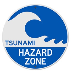 Tsunami hazard zone vector
