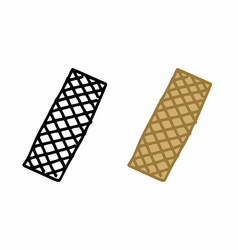 wafer biscuits freehand vector image