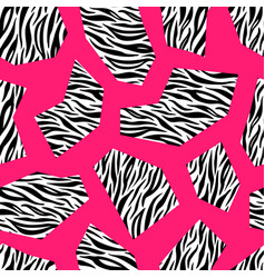 zebra seamless geometric pattern design colorful vector image