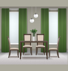 dining room interior vector image vector image