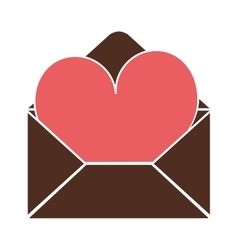 envelope with heart icon vector image vector image