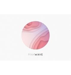 Wave logo Business Icon Pink logo Company logo vector image vector image