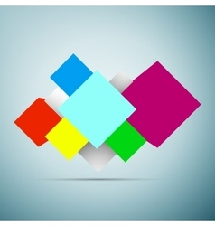 Abstract background with 3d cubes icon isolated on vector image