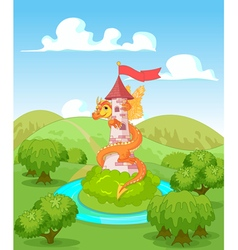 Dragon Tower vector image vector image