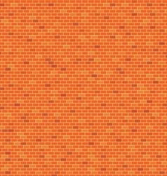Orange Brick wall pattern background vector image