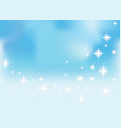 Shining stars on a blue background vector image