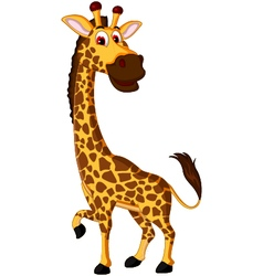 Cute giraffe cartoon for you design vector image vector image