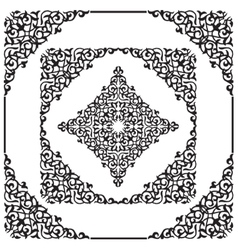 frame of the Arab decor vector image vector image