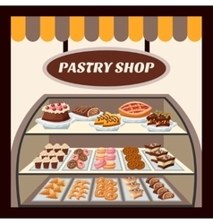 Pastry Shop Background vector image