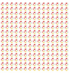 Seamless hearts pattern wallpaper vector image