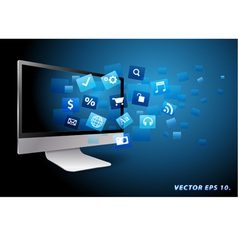 application computer concept vector image