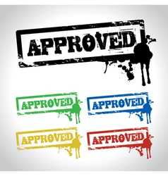 approved stamp vector image