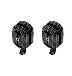 black microphone on white vector image
