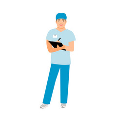 hospital attendant medical specialist vector image vector image