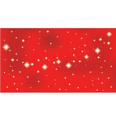 Shining star on a red background vector image