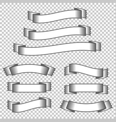a set of banner ribbons with space for text a vector image