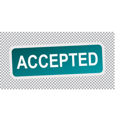 Accepted stamp flat vector