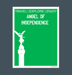 angel of independence mexico city mexico monument vector image