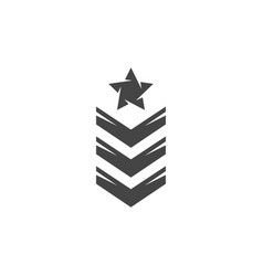 army rank icon logo on white background vector image
