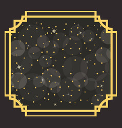Art deco borders and frames with sparks and vector