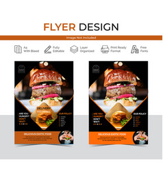 Asian food flyer with chinese cuisine image vector