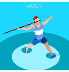 Athletics Javelin 2016 Summer Games 3D vector image