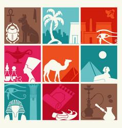 background traditional symbols egypt vector image