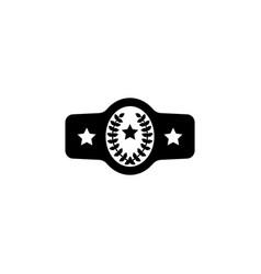 belt boxing sport championship winner fight award vector image