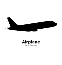 black airplane silhouette air travel vector image