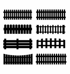 Black fences on the white background vector