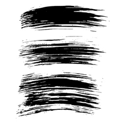 Black ink brush strokes background vector image
