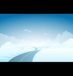 Blue Winter Landscape vector image