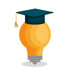 Bulb light education icon vector