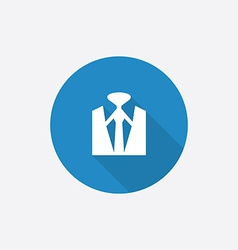 business wear Flat Blue Simple Icon with long vector image